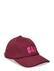 Gap Logo Twill Baseball Hat - BURGUNDY