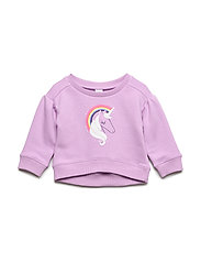 Toddler Graphic Pullover Sweatshirt - PURPLE ORCHID