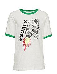 Kids Flippy Sequin Short Sleeve T-Shirt - WHITE000