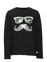 Kids Flippy Sequin T-Shirt - TRUE BLACK