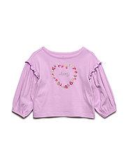 Toddler Ruffle-Sleeve Graphic T-Shirt - PURPLE HEART 696