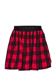 Kids Buffalo Plaid Flippy Skirt - MODERN RED