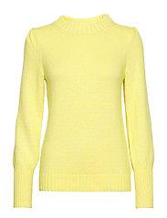 Puff Sleeve Crewneck Sweater - RADIOACTIVE NEON COTTN