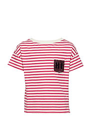 AUG FLP GR T - PINK STRIPE