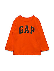 V-PTF LS LOGO T - ORANGE POP