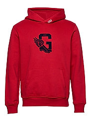 Gap Athletic Logo Pullover Hoodie - LASALLE RED