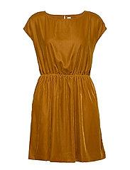 Velvet Skater Dress - GOLD WKF827 F