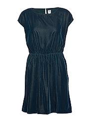 Velvet Skater Dress - PRUSSIAN BLUE