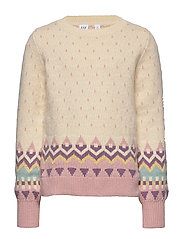 Kids Geometric Pattern Sweater - IVORY FROST VERSION 2