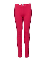 Kids Leggings in Stretch Jersey - BRIGHT CLARET