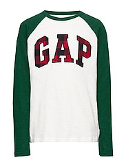 Kids Gap Logo Plaid T-Shirt - NEW OFF WHITE
