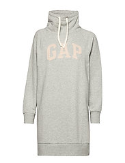 GAP LUREX EMB FNL DRESS - B10 GREY HEATHER