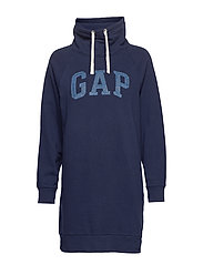 GAP LUREX EMB FNL DRESS - NAVY UNIFORM