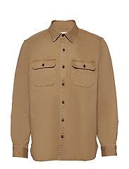 Lightweight Shirt Jacket - KHAKI TWILL