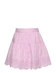 Kids Eyelet Tiered Skirt - LAVENDER PINK