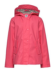 Kids Jersey-Lined Raincoat - PINK POP NEON