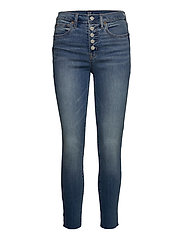 High Rise True Skinny Ankle Jeans with Secret Smoothing - MEDIUM INDIGO 8