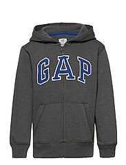 V-NEW FZ GAP ARCH HOOD - CHARCOAL GREY