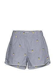 Print Shorts in Poplin - PINEAPPLESTRIPE OVRLAY