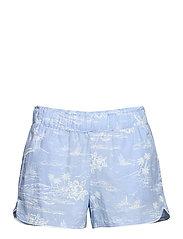 Print Shorts in Poplin - BLUE HAWAIIAN FLORAL