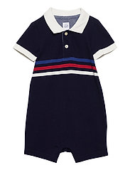 Baby Polo Shorty One-Piece - NAVY UNIFORM