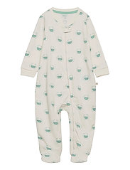 Baby Organic Footed One-Piece - IVORY FROST