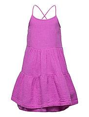 Kids Gauze 3-Tiered Dress - BUDDING LILAC