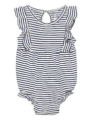 Baby Ruffle Bubble One-Piece - DUTCH BLUE