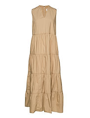 Sleeveless Tiered Maxi Dress - NEW SAND