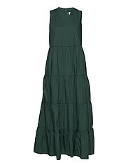 Sleeveless Tiered Maxi Dress - OLIVE 005