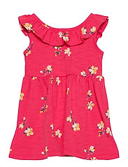 Toddler Ruffle Skater Dress - PINK FLORAL 1