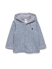 Baby Favorite Reversible Bear Hoodie Sweatshirt - BLUE TRACK