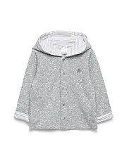 Baby Favorite Reversible Bear Hoodie Sweatshirt - LIGHT GREY MARLE