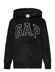 Kids Gap Logo Hoodie - TRUE BLACK