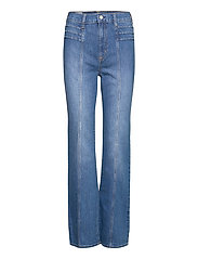 High Rise Vintage Flare Jeans - MEDIUM INDIGO 11