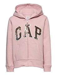 Kids Flippy Sequin Gap Logo Hoodie - PURE PINK