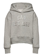 Kids Embossed Gap Logo Hoodie - LIGHT HEATHER GREY