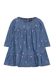 Toddler Denim Heart Dress - HEARTS