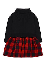 Toddler Mix-Media Dress - BUFFALO PLAID