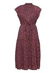 Flutter Sleeve Midi Dress - PINK FLORAL 1