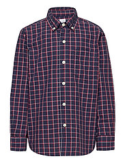 Kids Plaid Button-Up Shirt - TAPESTRY NAVY