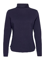Fitted Funnel-Neck T-Shirt - NAVY UNIFORM