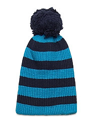 Reversible Pom Beanie - ARCTICBLUE NAVY STRIPE
