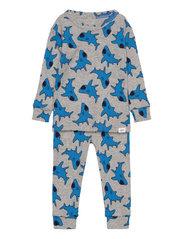 babyGap Shark Long Sleeve PJ Set - H GREY B08 COMBO N