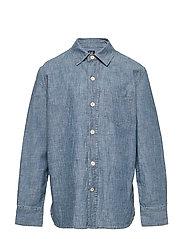 Kids Chambray Button-Up Shirt - MEDIUM WASH