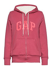 Gap Logo Sherpa Hoodie - FADED ROSE 559