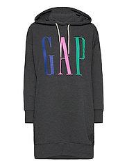 GAP LS HD DRESS - CHARCOAL HEATHER