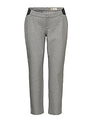 Maternity Inset Panel Slim Ankle Pants - GREY PLAID