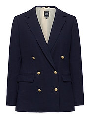 Double-Breasted Blazer - NEW NAVY