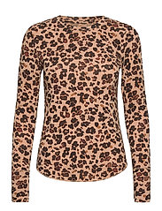 Feather T-Shirt - LEOPARD PRINT